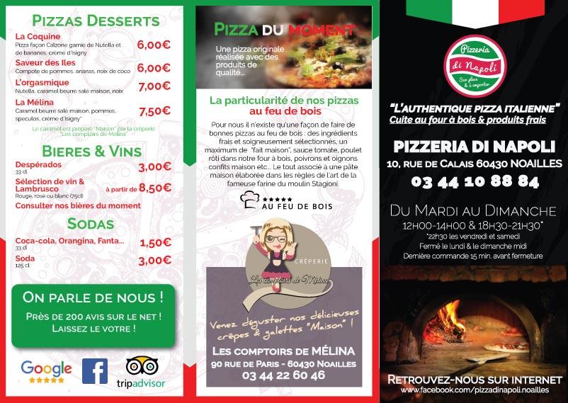 Carte de menu pour Restaurant
