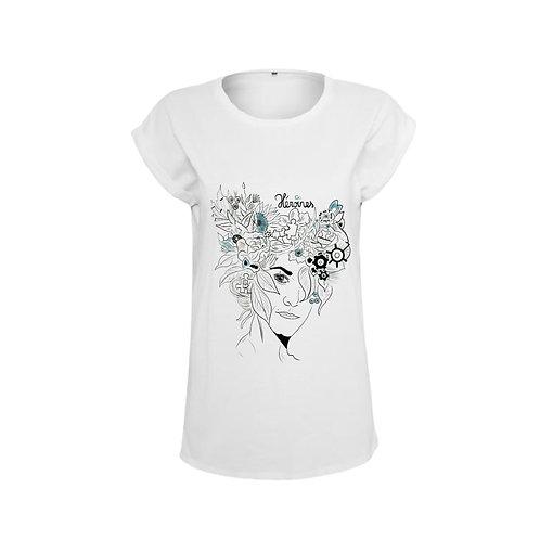 """Tee-shirt femme """"Héroines"""" blanc"""