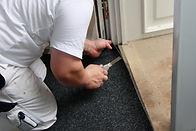 Pose de moquette, un revêtement de sol intérieur confortable