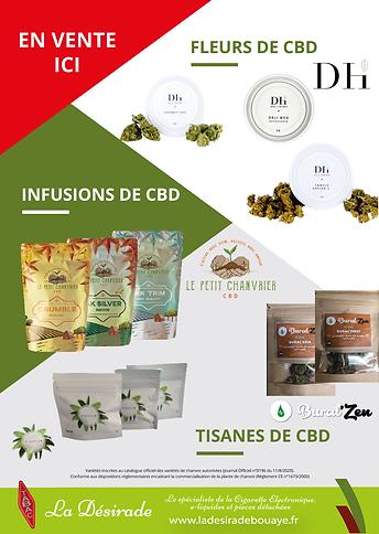 Fleurs, tisanes, infusions... de CBD