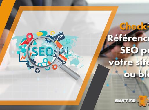 Check-list référencement SEO pour votre site web ou blog