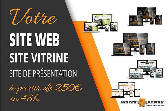 Site vitrine - Site de présentation