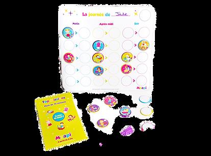 Mon tableau de routine - activités journalières pour enfant MOAPI