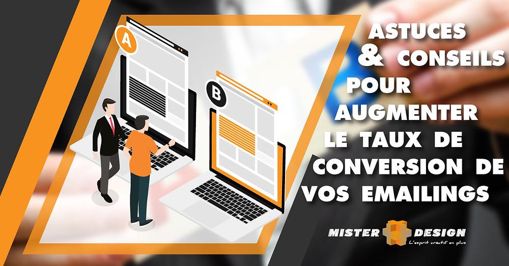 astuces & conseils pour  augmenter  le taux de conversion de vos emailings