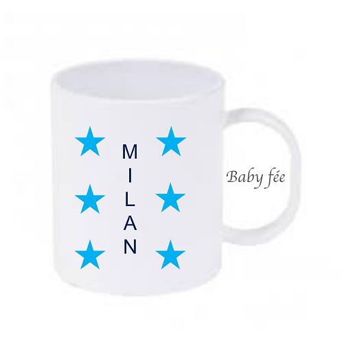 Tasse mug enfant incassable personnalisable - étoiles
