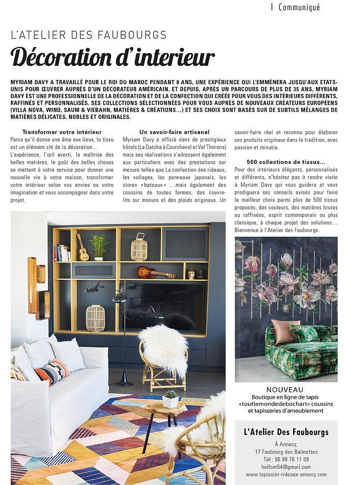 L'Atelier des Faubourgs dans la presse spécialisée !