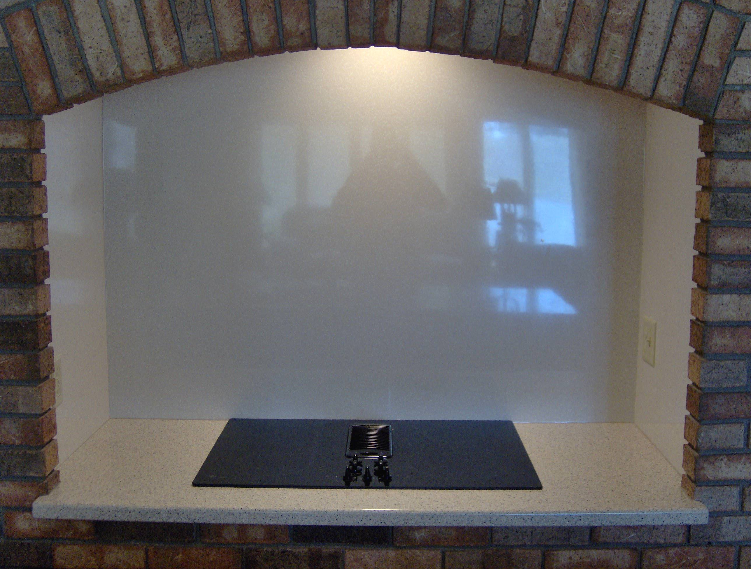 Solid Surface Surround with Stove
