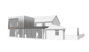Concept Render for Contemporary Home