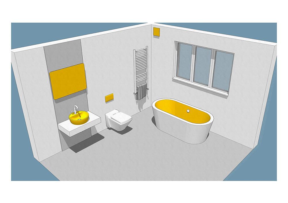 Sketch of ECo Bathroom
