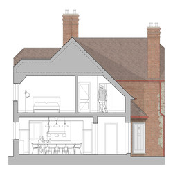 Country Manor Rendered Cross Section