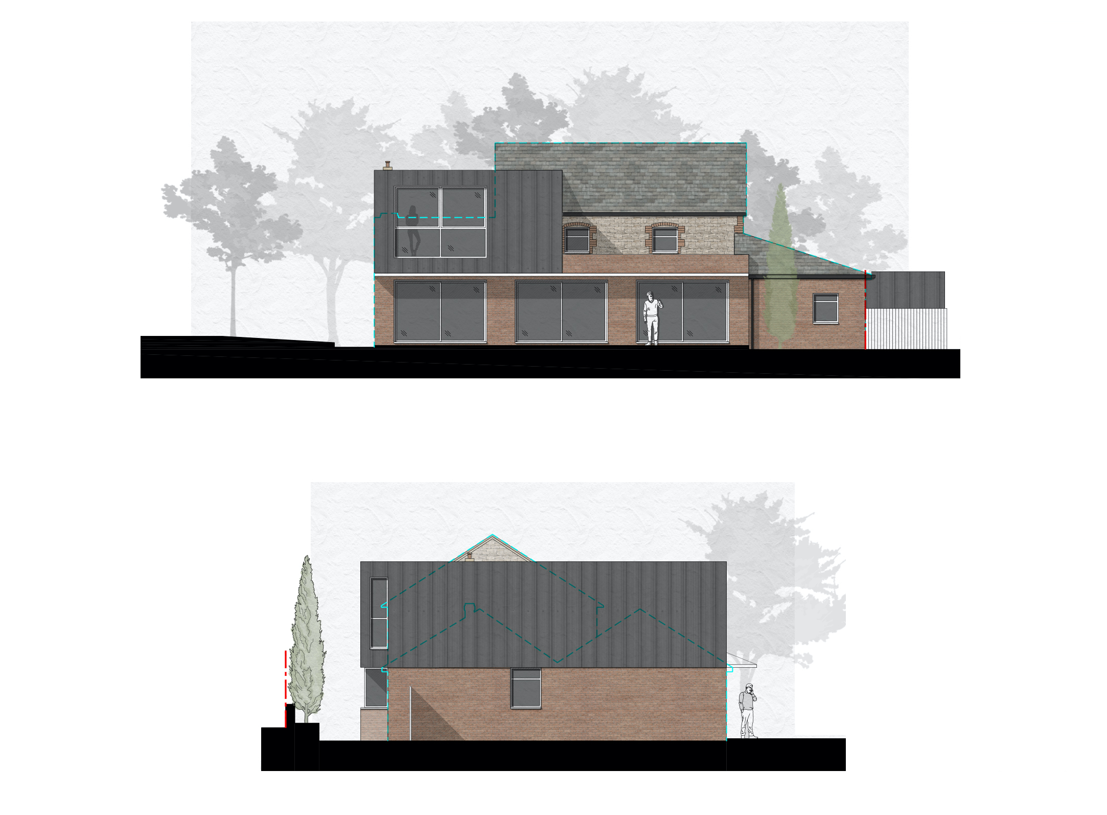 Bay Cottage Rendered Elevations