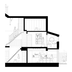 Victorian Terrace CAD Section