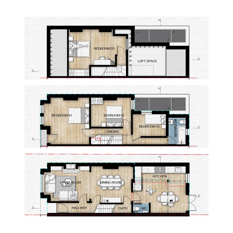 Victorian Terrace Floor Plans