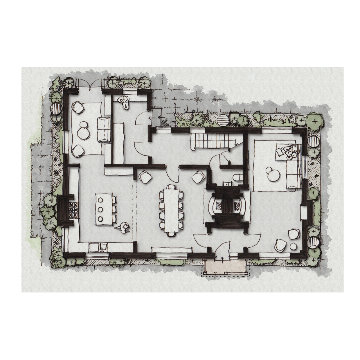 Country Manor Sketch Plan