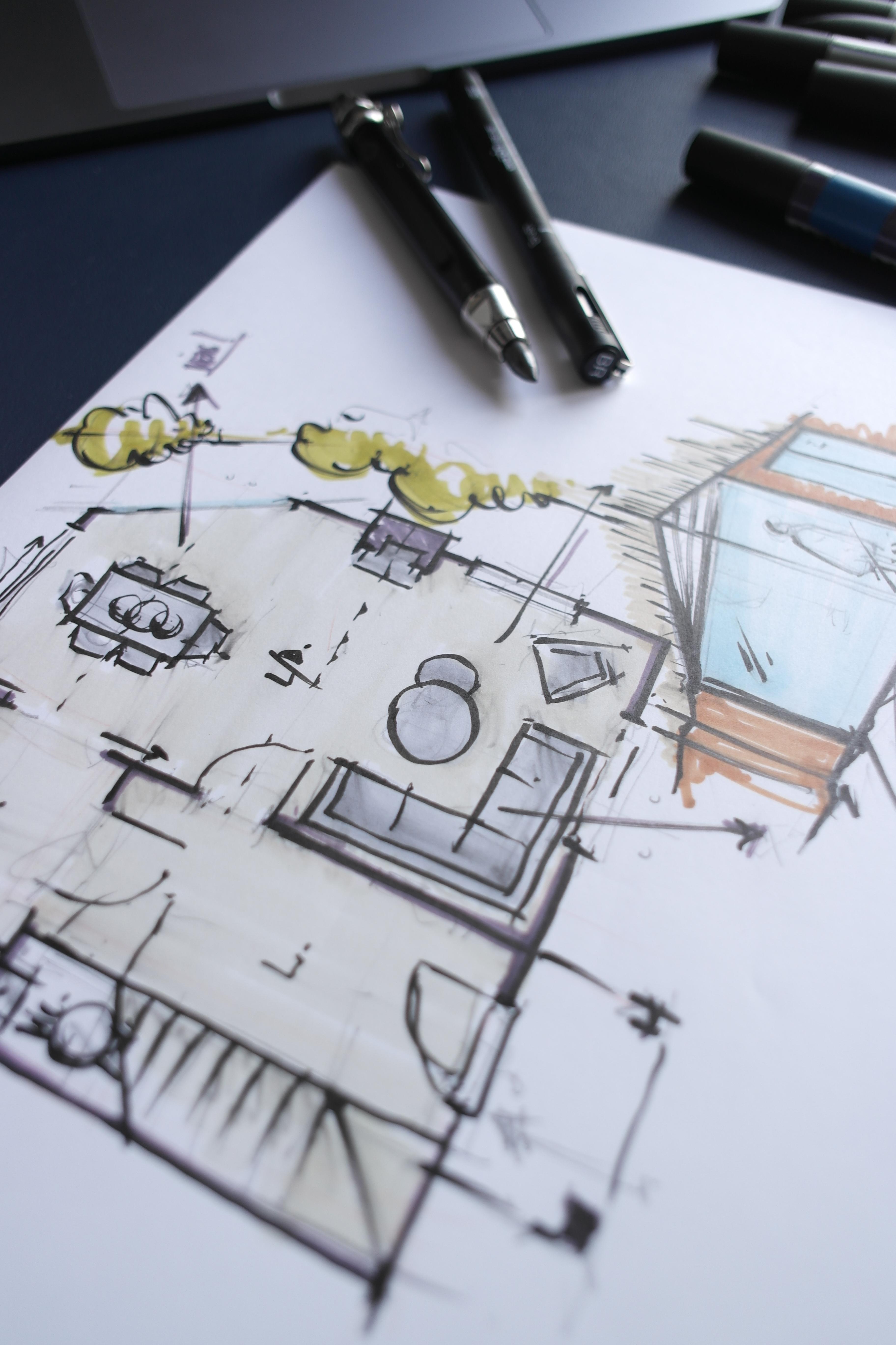 Concept Design Hand Sketch