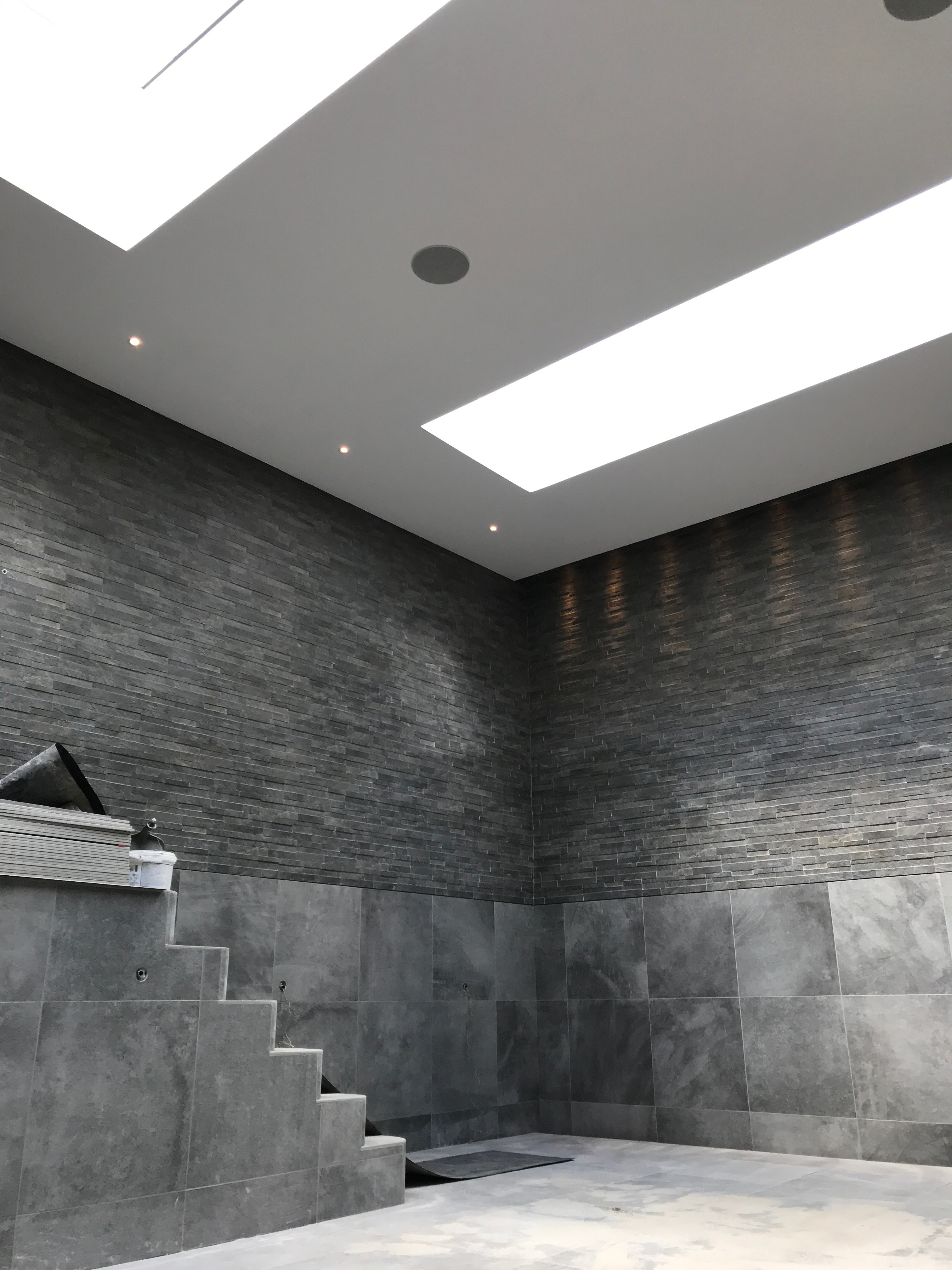Tiling of Basement Swimming Pool