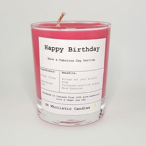 Happy Birthday Aromatherapy Candle