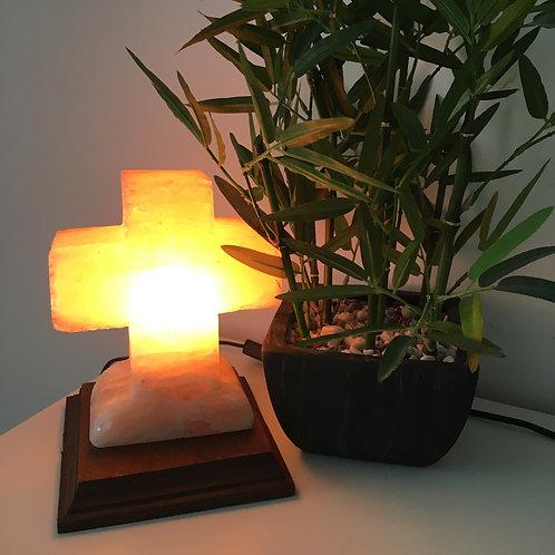 Cross Himalayan Salt Lamp