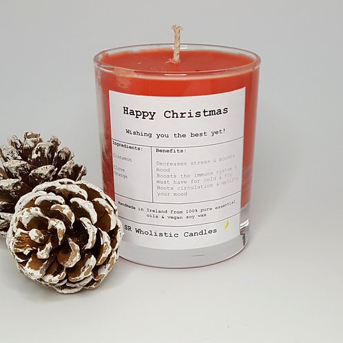 Happy Christmas Aromatherapy Candle