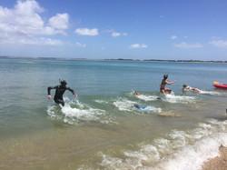 Swim Fin Race