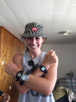 Catherine with her timepieces