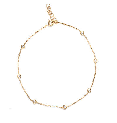 Diamond Bezel Anklet Chain