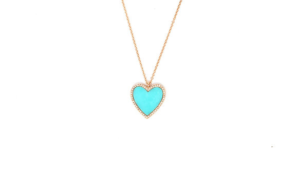 Large Turquoise Heart