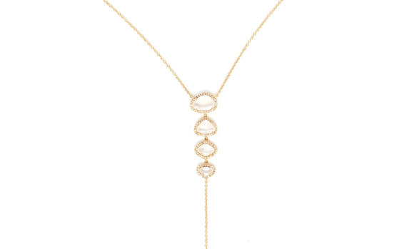 Four Moonstone Lariat
