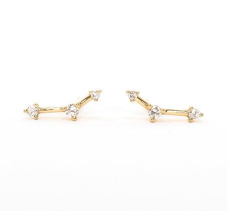 Triple Diamond Studs