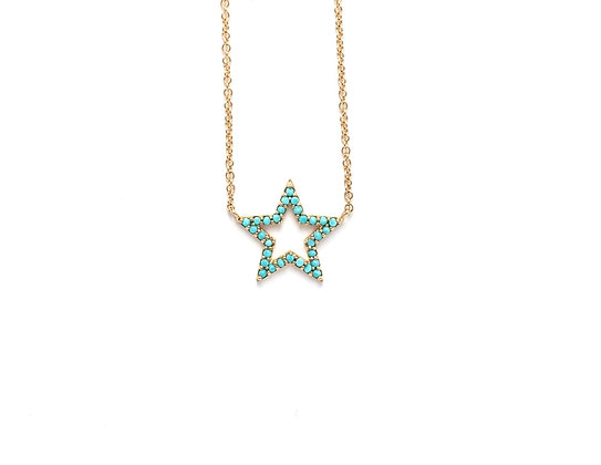 Hollow Turquoise Star
