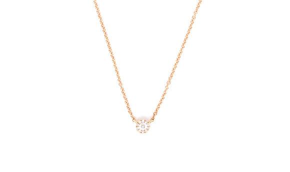 Diamond Center Necklace