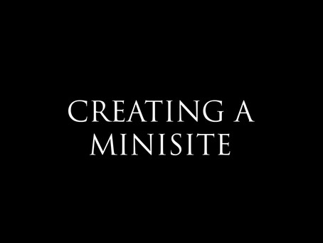 How to create a minisite?