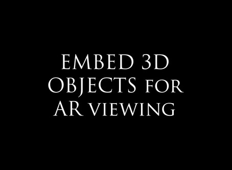 How to embed 3D objects in AR?