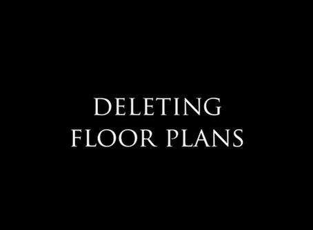 How to delete floor plans?