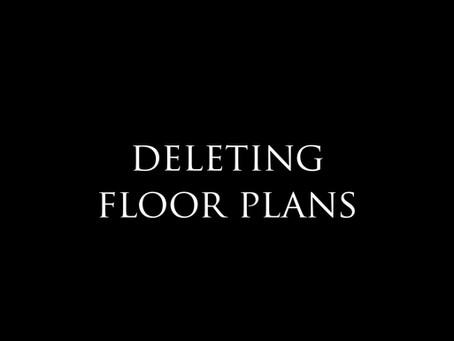 How to delete floor plans?