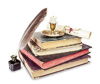 29382290-old-books-candle-in-candlestick