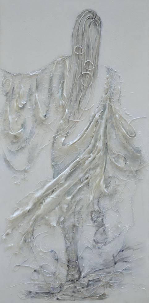 Femme de lumière 60  x 120 cm