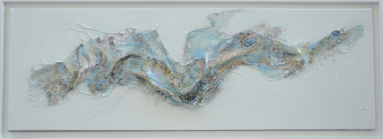 The gold breath, 40 x 120 cm
