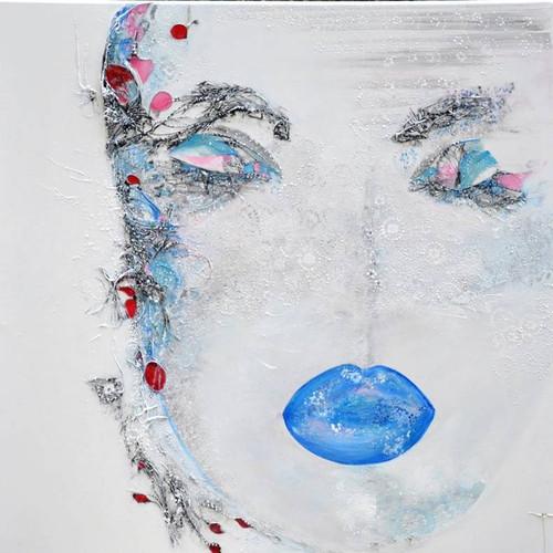 Blue kiss  90 x 90 cm