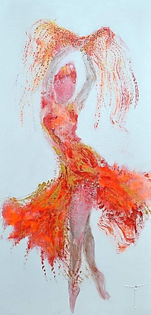 Rêverie de flamenco 30 x 60 chassis_3D.   SOLD