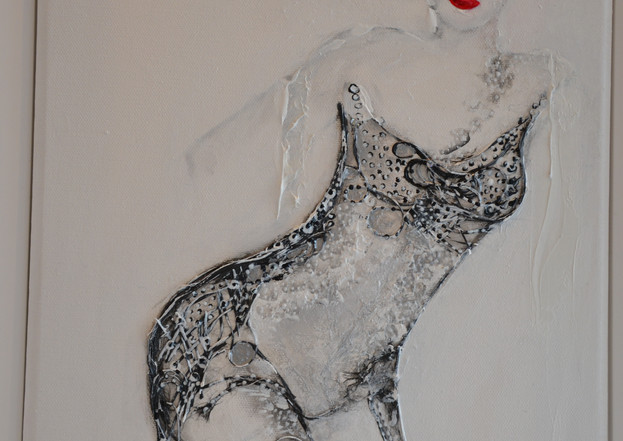 Rouge baiser, 35 x 27 cm