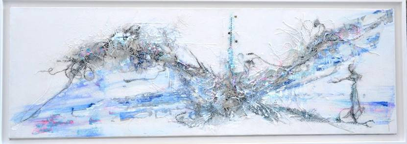 Walk in the blue woods 40 x 120 cm  SOLD