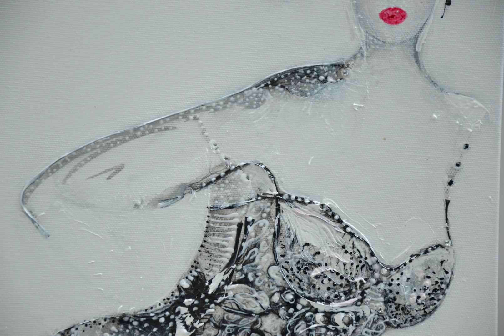 Rouge baiser, détail 35 x 27 cm