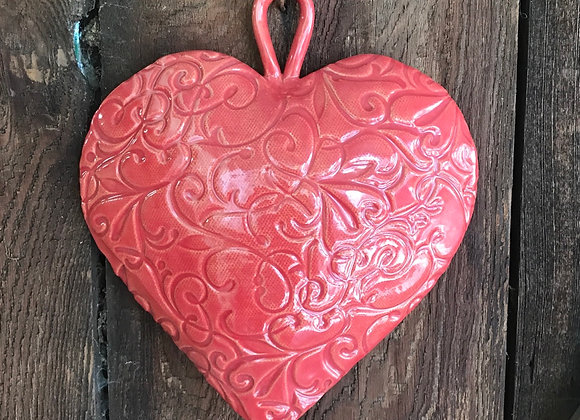 Hanging Heart in Snapdragon Red