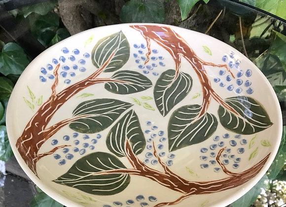 Serving Bowl: Woodland Motif