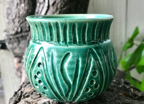 Small Carved Pot