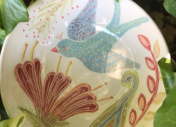 Big Bowl: Blue Bird and Red Flower