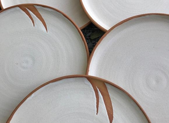 Dinner Plates- Set of 6: Milk Matte on Buff