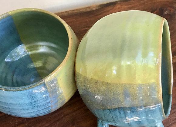 Mugs: Set of 2 in Ocean & Moss