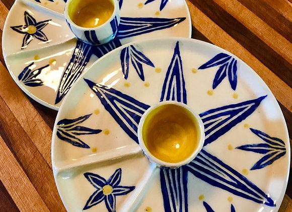 Egg Cup & Saucer: Cobalt Star